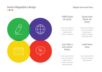 Infographic page template design. Useful for presentation, web