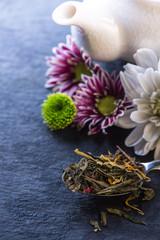 Aromatic tea background