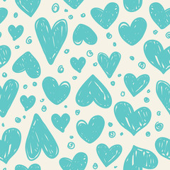 Seamless pattern with valentine hearts