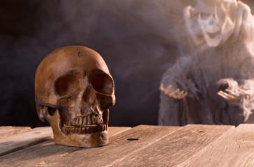 Spooky Halloween Skull