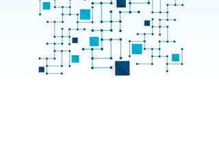 Vector design technology, Network,medical, business background.