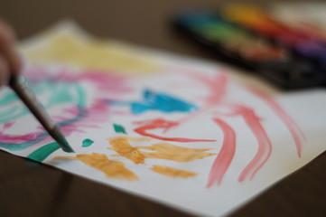mit Wasserfarbe malen