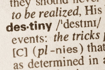 Dictionary definition of word destiny