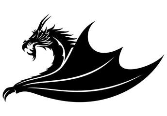 Dragon vector sign