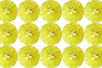 Fresh sliced lemon texture background.