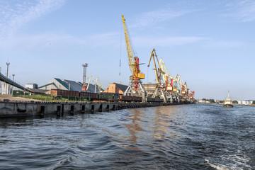 Port near the river