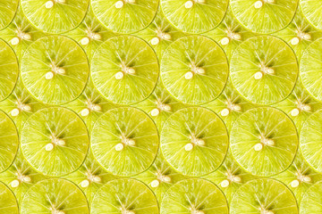 Fresh sliced lemon texture background.