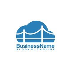 Bridge vector logo icon