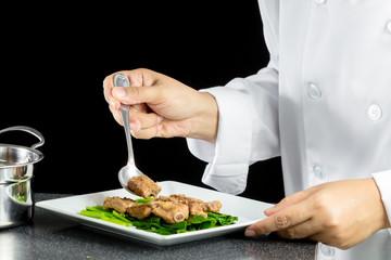 stir fried chinese kale