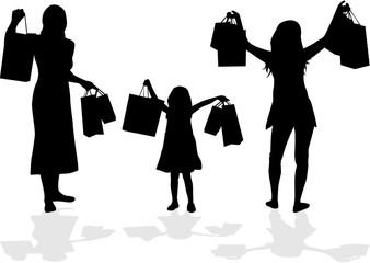 Girl on shopping.