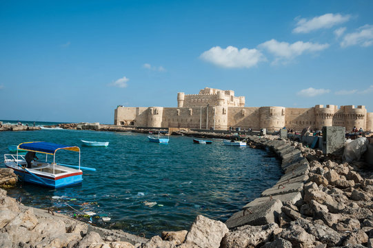 the coast of Alexandria, Egypt