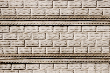 pattern of decorative slate stone wall surface, grey brick fence background
