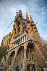 Exterior facade of the Sagrada Familia, Barcelona
