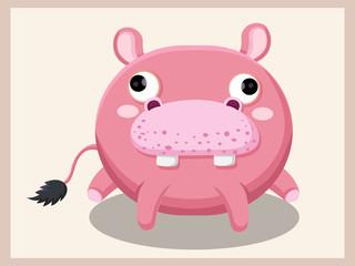 Hippo cartoon vector