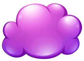 Purple cloud on white