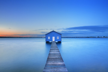Sunrise at Matilda Bay boathouse in Perth, Australia