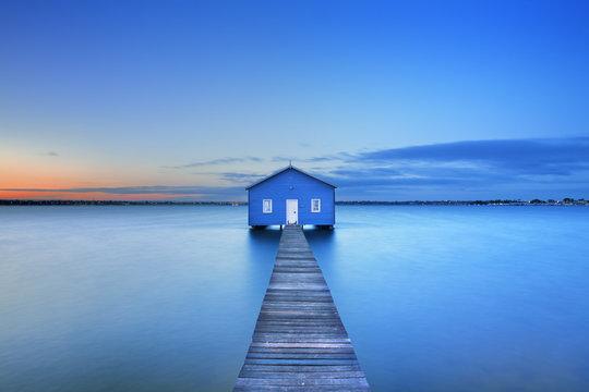 Sunrise at Matilda Bay boathouse in Perth, Australia