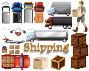 Cargo service with different transportation