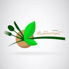 Logo for a vegetarian restaurant