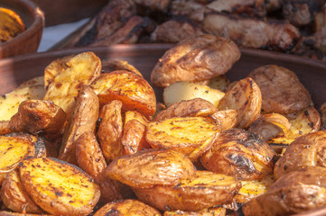 potatoes on a grill
