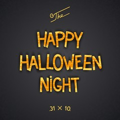 Happy Halloween Night retro 3D poster design. Vector eps 10
