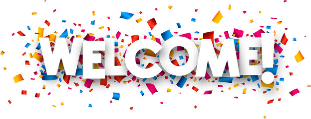 Welcome sign Wall mural