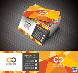 Vector illustration of creative business card mock-up.