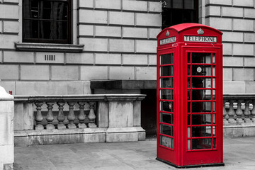 Traditional Red London Telephone Box