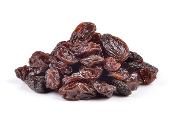 Dried raisins on a white background Fototapete