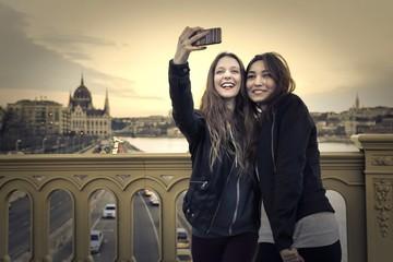 selfie in budapest