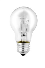 Light bulb isolated, clipping path