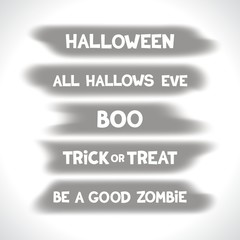 Themed labels for halloween on the background blurry spots. Vector eps 10