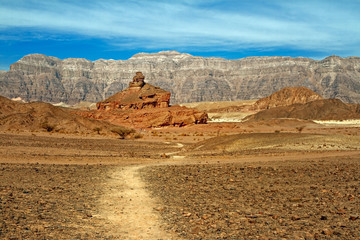 Timna national geological park of Israel