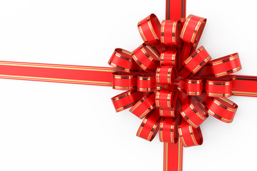 bow, ribbon, gift isolated