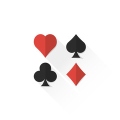 color playing cards suits collection icon illustration.