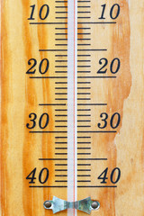 Thermometer scale. Measurement and weather forecast.