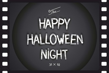 Just Halloween retro poster in style cinema with volumetric lettering. Vector eps 10