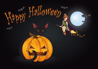 Halloween Party Grußkarte