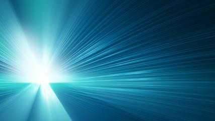 blue shining rays