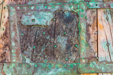 Part of a weathered ship wreck