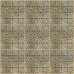 Fotomurales - background. Ceramics. Tile, museum Azulejo, Lisbon, Portugal.