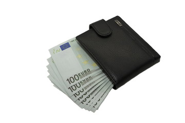 wallet with euros