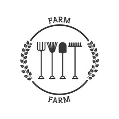 farm fresh pictogram