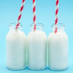bottles of fresh milk
