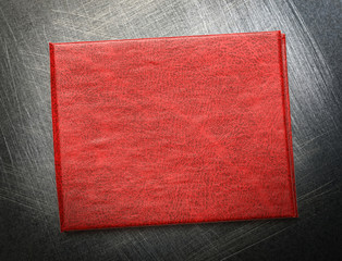 Red blank document cover