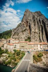 Sisteron et le rocher de la Baume