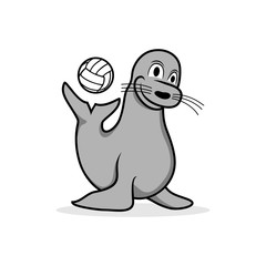 Happy Seal Playing Ball