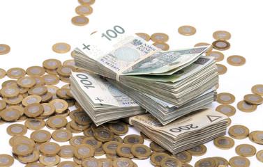 polskie pieniądze, złotówki