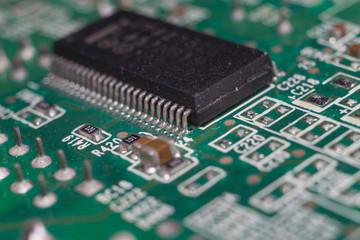 Close up of IC pin on computer main board.