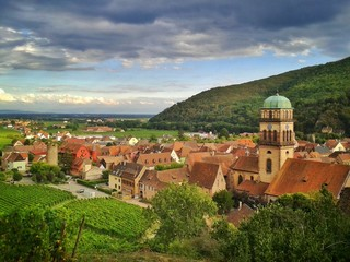 Das Dorf Kaysersberg im Elsass, Frankreich